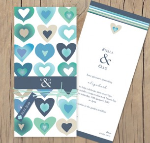 blooming love wedding invitation