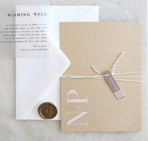 natalia design on nude wedding invitation