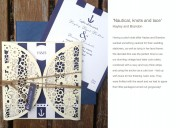 Nautical & nice wedding invitation