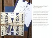 Nautical & nice wedding invitation