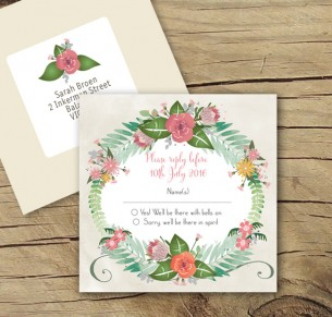 Flowers at the Fair rsvp card