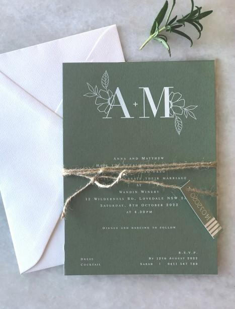 the romance white ink invitation