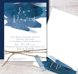 watercolour splash flat card invitation