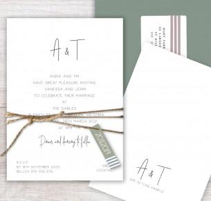 anna flat card invitation
