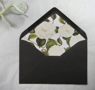 botanical whites envelope liner