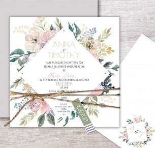 Serendipity flat card invitation
