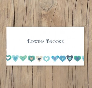 blooming love placecard