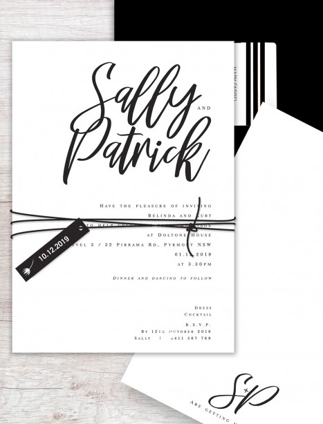 santa fe flat card invitation