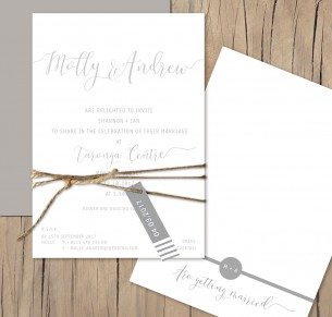 Mykonos flat card invitation