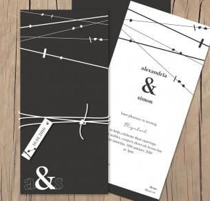 crossed paths wedding invitation
