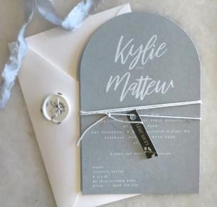 kylie arch wedding invitation