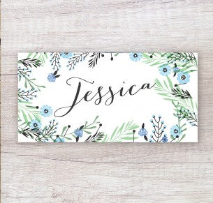 Circle of blossoms placecard