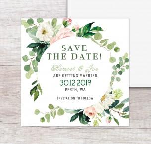 Wild flower save the dates