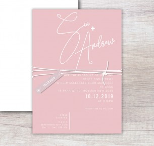 santa fe white ink invitation