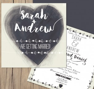 Wild at heart flat card invitation
