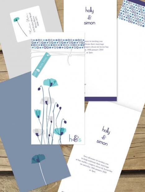 paper poppies invitation