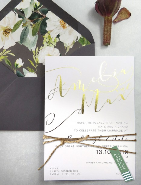 Foil! Romantics invitations