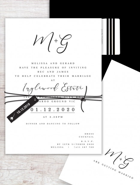 bliss flat card invitation