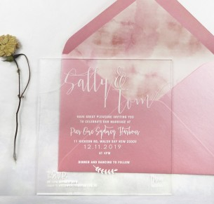 Clear Acrylic simply sublime invitation