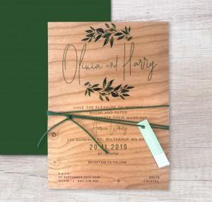 Printed on wood! rendezvous invitation