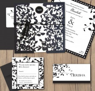 leafy affair black laser cut package