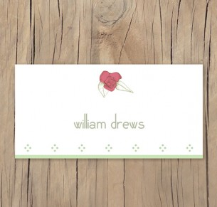 secret garden placecard