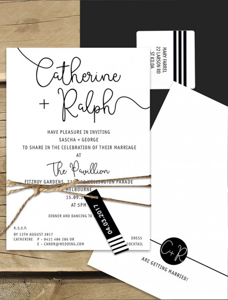 Sardinia flat card invitation