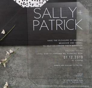 Helsinki frosted acrylic invitation
