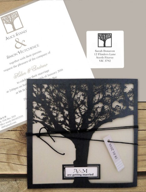 Enchanted Tree Laser Cut Invitaton