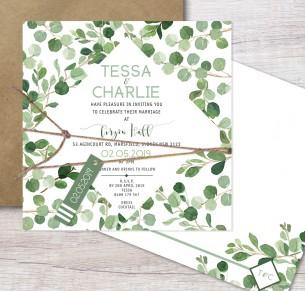 nature lover flat card invitation