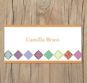 quilted placecard