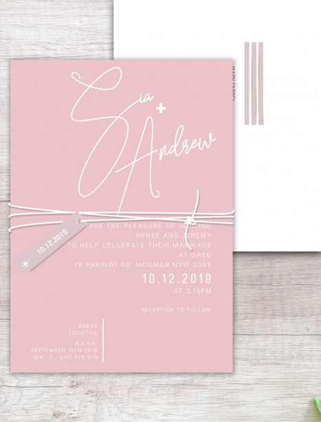 Berlin white ink invitation