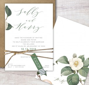 Chloe flat card invitation