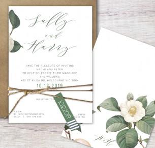 Chloe flat card invitation