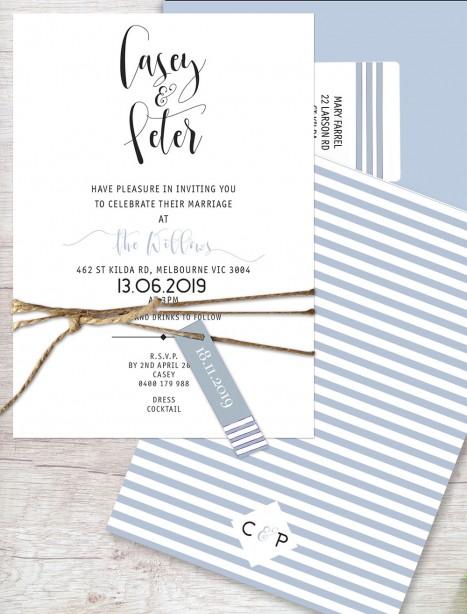 oklahoma flat card invitation