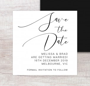 oh so chic save the date