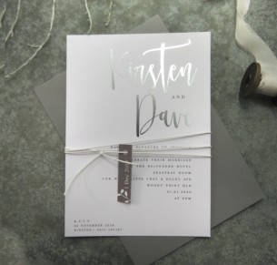 Silver foil! Quick kiss invitation