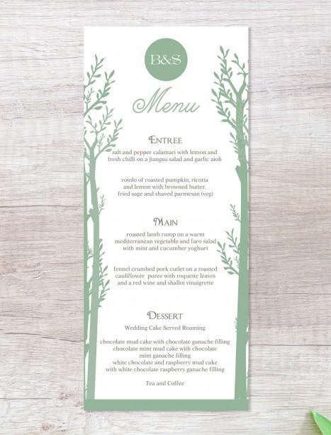 Endless forest menu