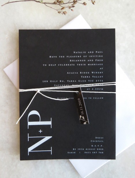 natalia white ink invitation