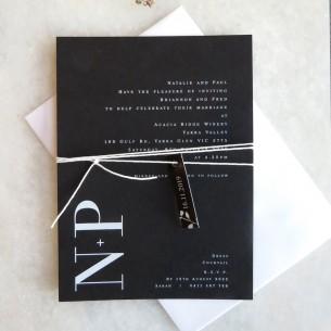 natalia white ink invitation