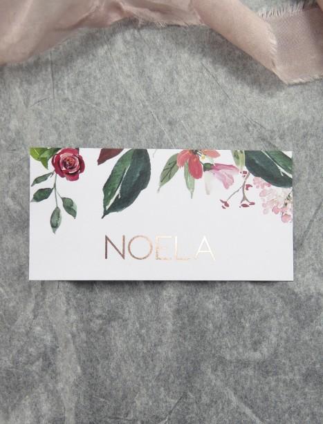 Bordeaux rose gold placecard