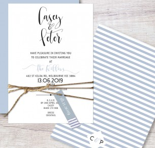oklahoma flat card invitation