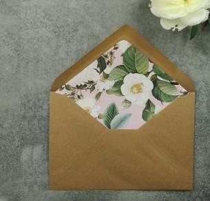 English garden blush envelope liner