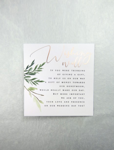 rose gold foil! rules of attraction wishing well