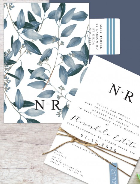 outdoor type flat card invitation