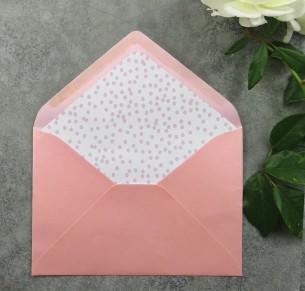 Blush dotted envelope liner