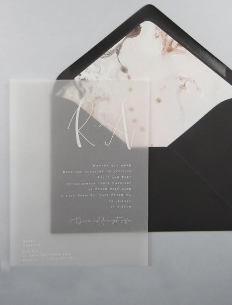 transparent Vellum Harmony invitation