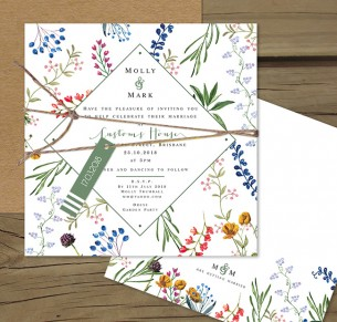 Florence flat card invitation