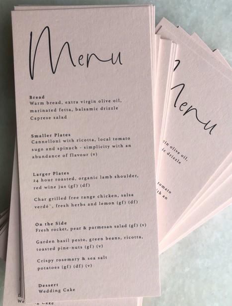 Blush menus the brad