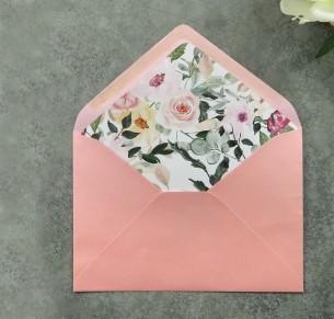 Watercolour field of flowers envelope liner